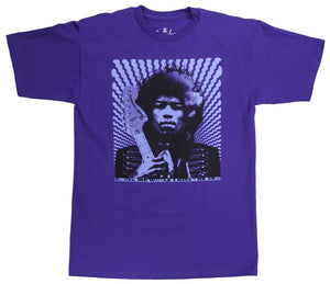 FENDER T-SHIRT HENDRIX KISS THE SKY, PURPLE, S