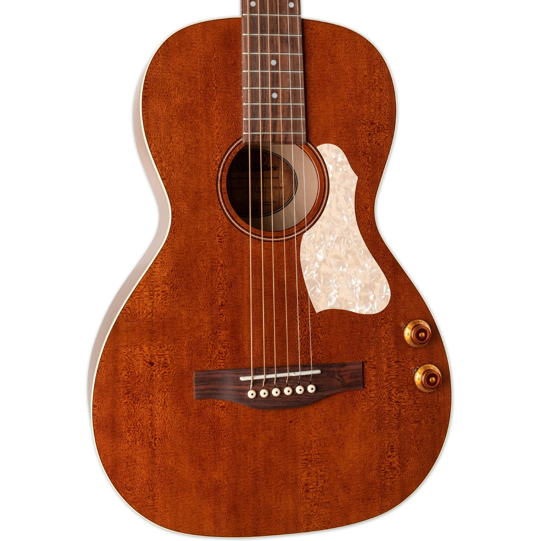 ART & LUTHERIE ROADHOUSE HAVANA BROWN WITH Q-DISCRETE PICKUP AND BAG