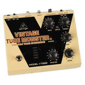 USED BEHRINGER VINTAGE TUBE MONSTER W/BOX AND UPGRADED TUBE