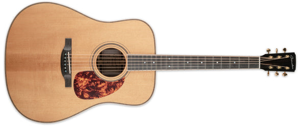 BOUCHER SG-52GI STUDIO GOOSE DREADNOUGHT WITH K&K PURE-MINI PICKUP, TORREFIED GOLD TOUCH ADIRONDACK RED SPRUCE/INDIAN ROSEWOOD WITH TWEED CASE