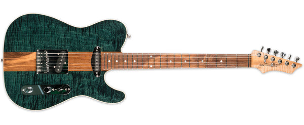 LOCALLY BUILT DIRT ROAD GUITARS GREEN TEA WITH TWEED CASE