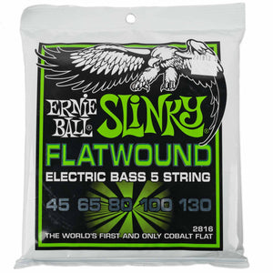 ERNIE BALL REGULAR SLINKY COBALT FLATWOUND 45-130 5 STRING