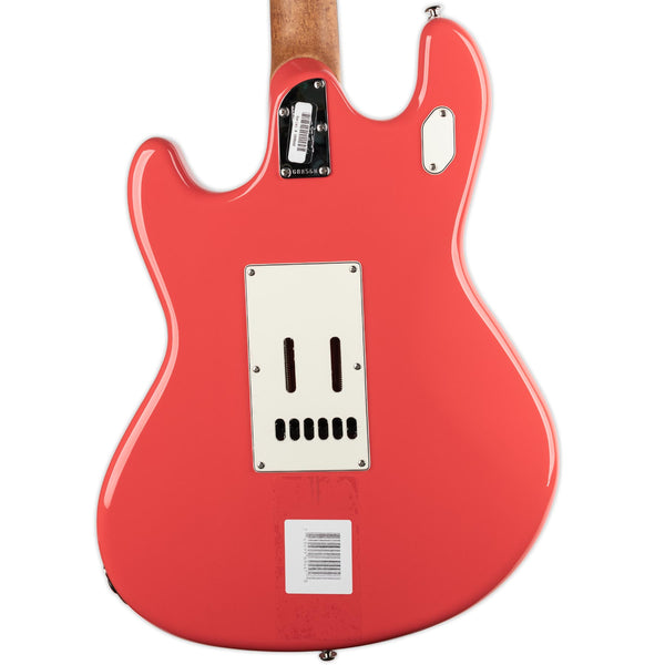 ERNIE BALL MUSIC MAN STINGRAY RS GUITAR- CORAL RED