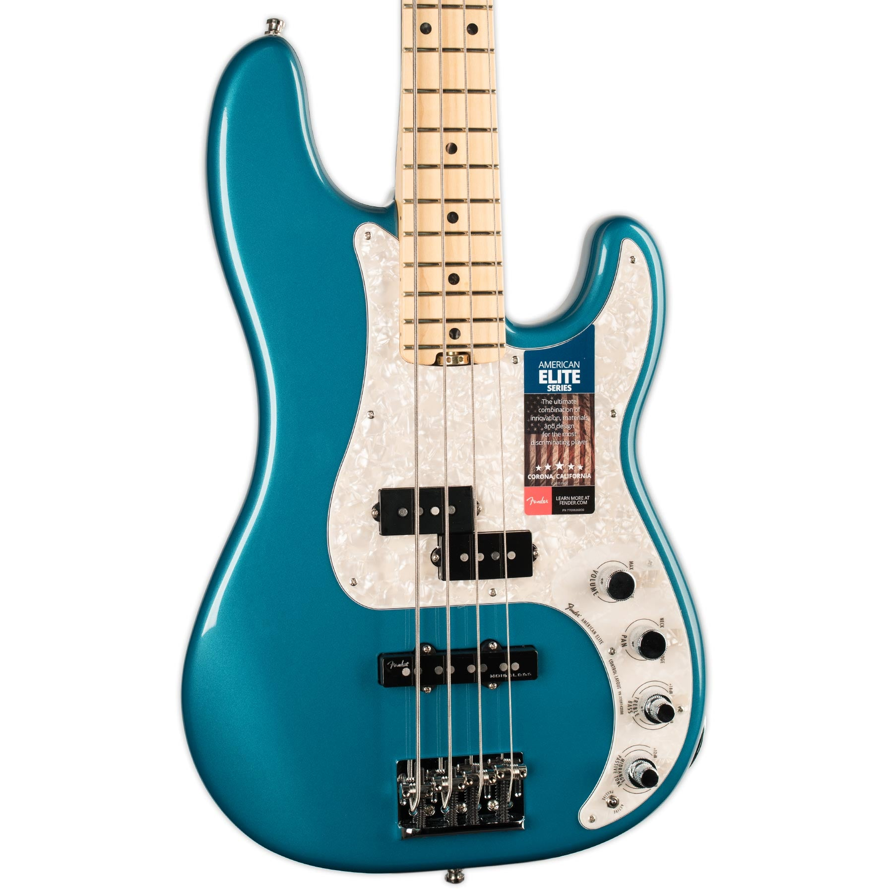 FENDER AMERICAN ELITE PRECISION BASS MN OCEAN TURQUOISE