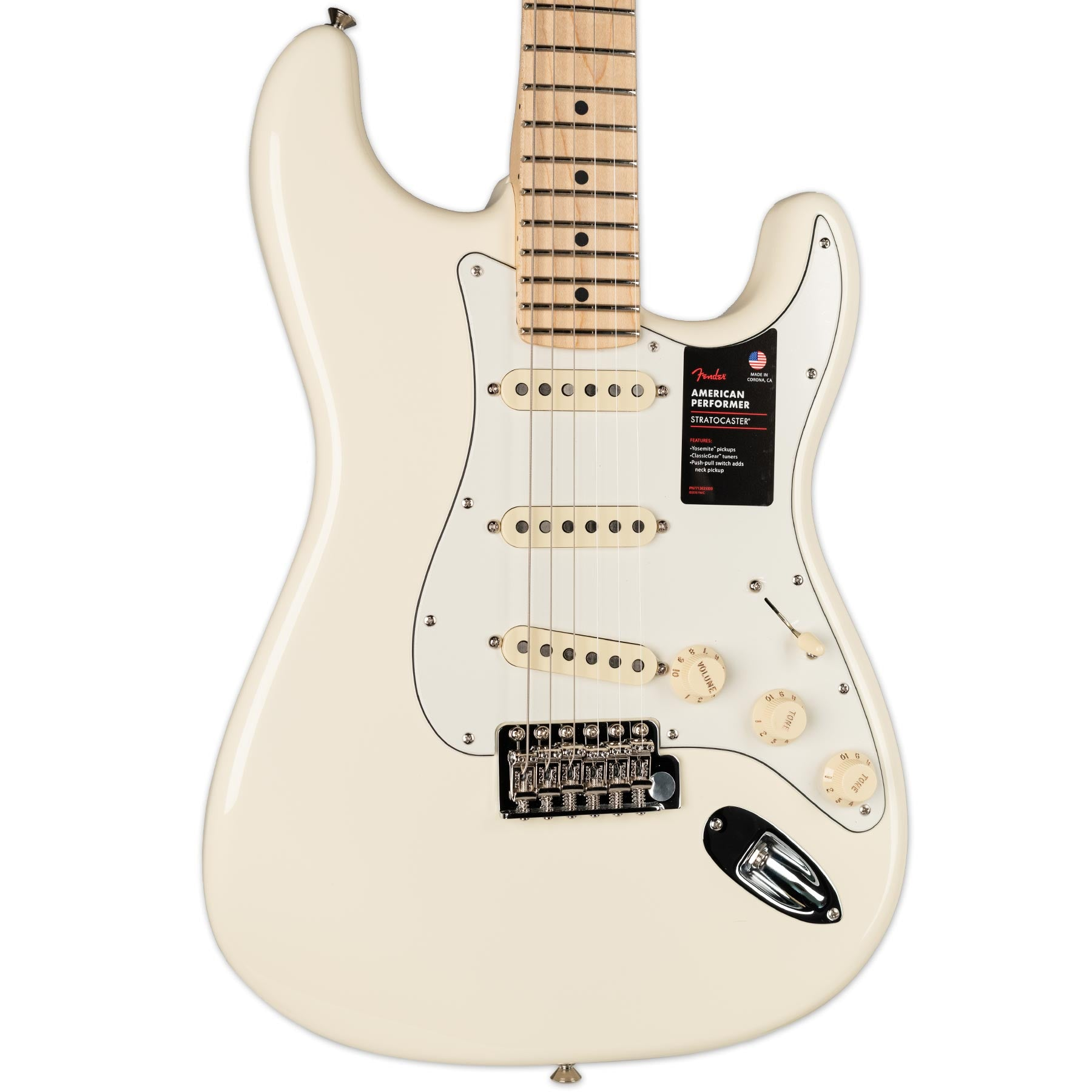 FENDER LIMITED EDITION AMERICAN PERFORMER STRATOCASTER OLYMPIC WHITE