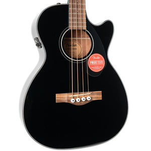 FENDER CB-60SCE ACOUSTIC BASS GUITAR, LAUREL FINGERBOARD BLACK