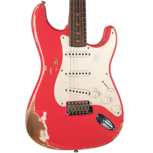 USED FENDER CUSTOM SHOP 2017 NAMM LTD HEAVY RELIC '59 STRATOCASTER FIESTA RED WITH CASE