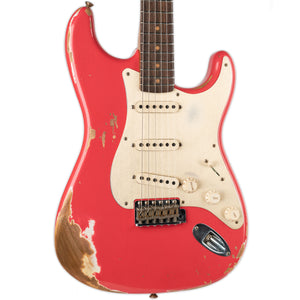 FENDER CUSTOM SHOP HEAVY RELIC 59 STRAT ROASTED NECK- AGED FIESTA RED