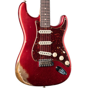 FENDER CUSTOM SHOP LIMITED '60 ROASTED STRATOCASTER HEAVY RELIC - AGED CANDY APPLE RED