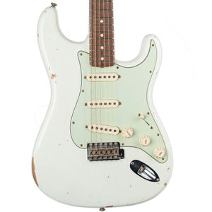 USED FENDER CUSTOM SHOP '61 STRATOCASTER RELIC OLYMPIC WHITE