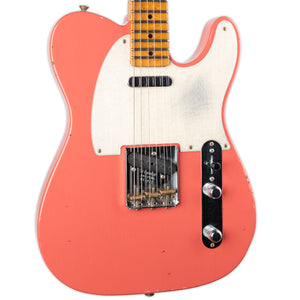 FENDER CUSTOM SHOP JOURNEYMAN RELIC RED HOT ROASTED TELECASTER- FADED TAHITIAN CORAL