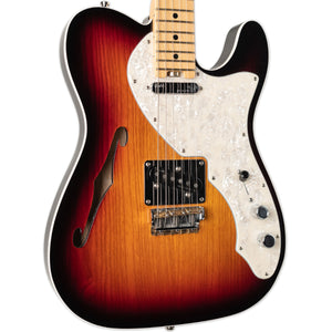 USED 2016 FENDER ELITE THINLINE TELECASTER SUNBURST WITH ORIGINAL CASE