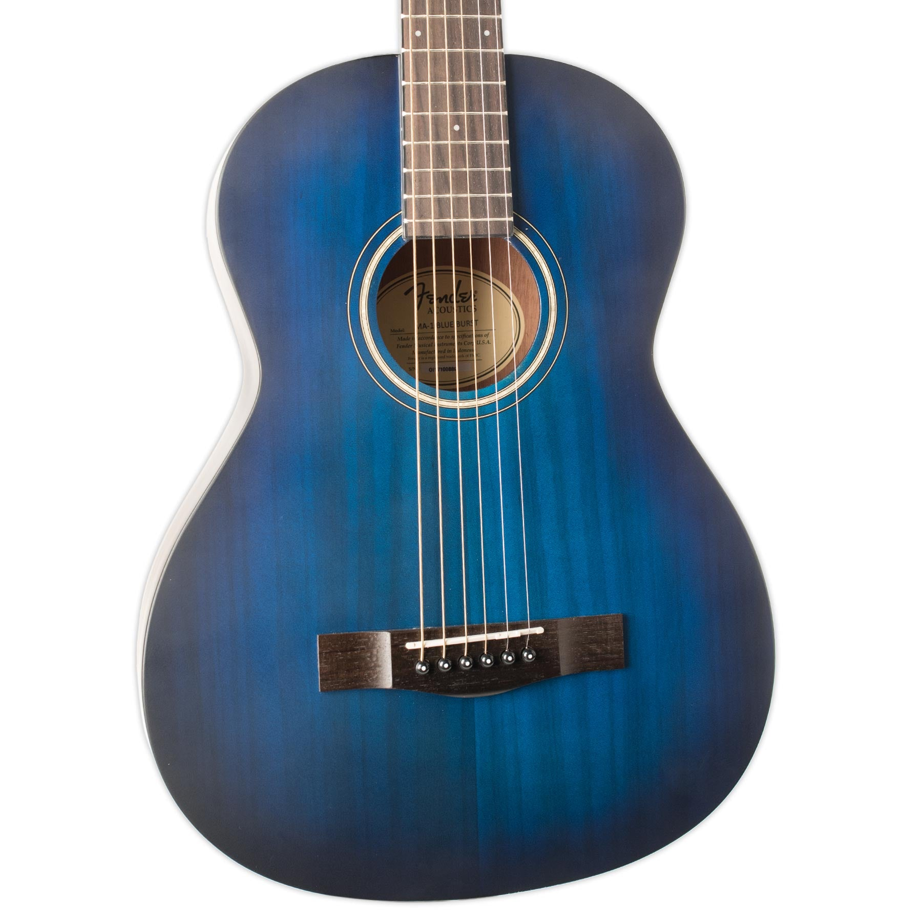 FENDER MA 1 3 4 SIZE ACOUSTIC STEEL STRING GUITAR BLUE BURST