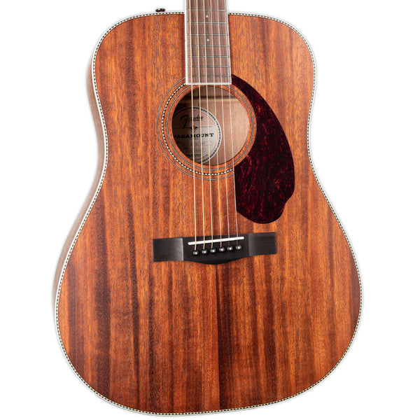 FENDER PM-1 PARAMOUNT STANDARD DREADNOUGHT ALL MAHOGANY WITH CASE