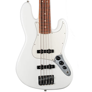 FENDER PLAYER JAZZ BASS V PAO FERRO FINGERBOARD POLAR WHITE