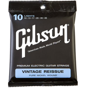 GIBSON VINTAGE REISSUE STRINGS PURE NICKEL WOUND LIGHT 10-46