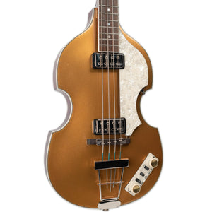 USED HOFNER CONTEMPORARY SERIES VIOLIN BASS - GOLD WITH CASE