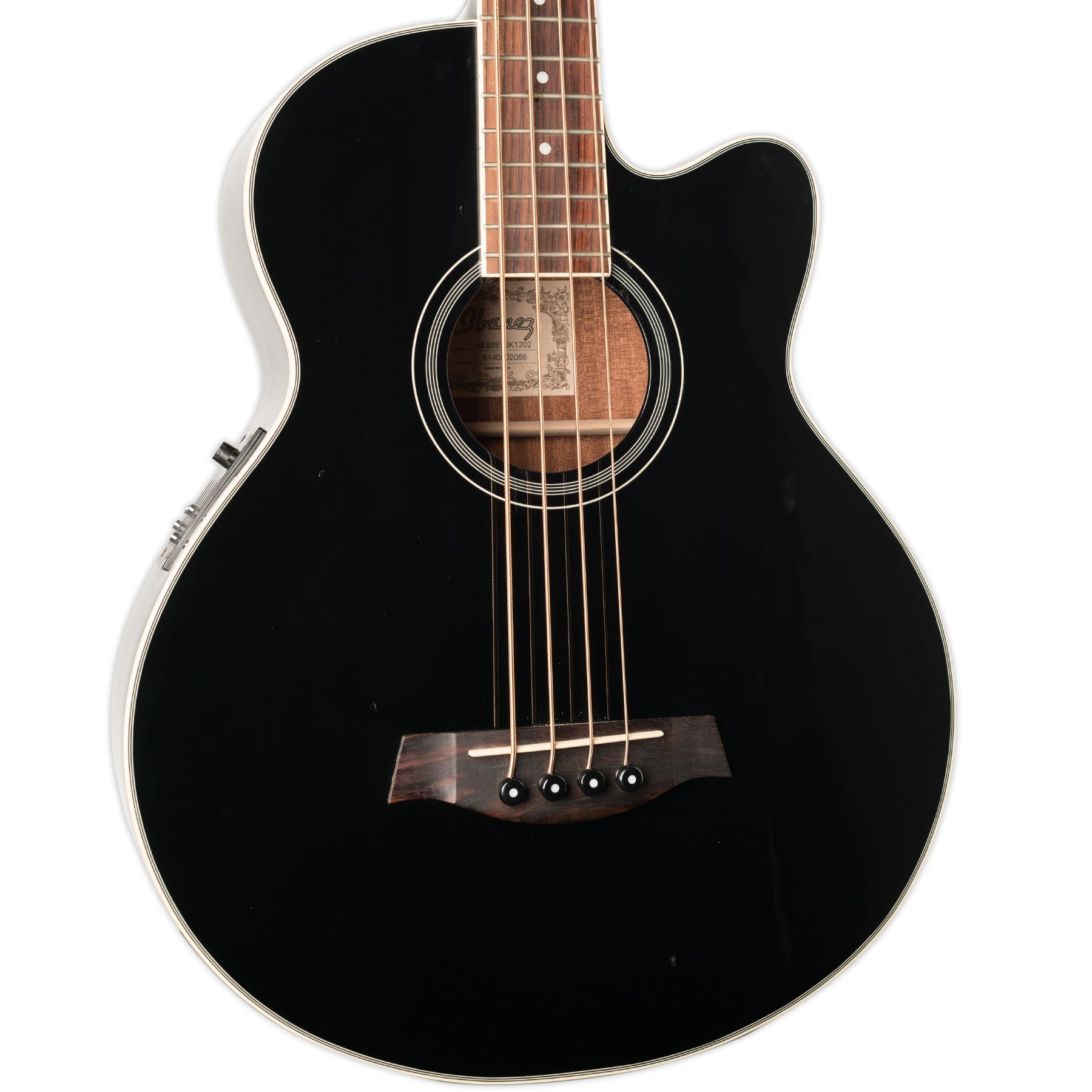 Used Ibanez Abe8e Bk1202 Acoustic Bass W Pickup And Case Stang Guitars On An Electric Guitar Or