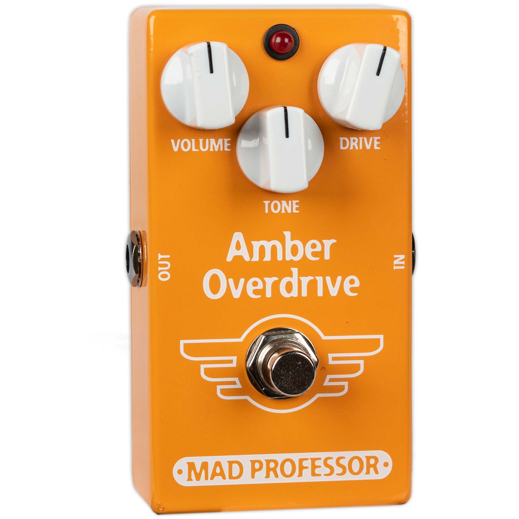 USED MAD PROFESSOR AMBER OVERDRIVE WITH BOX