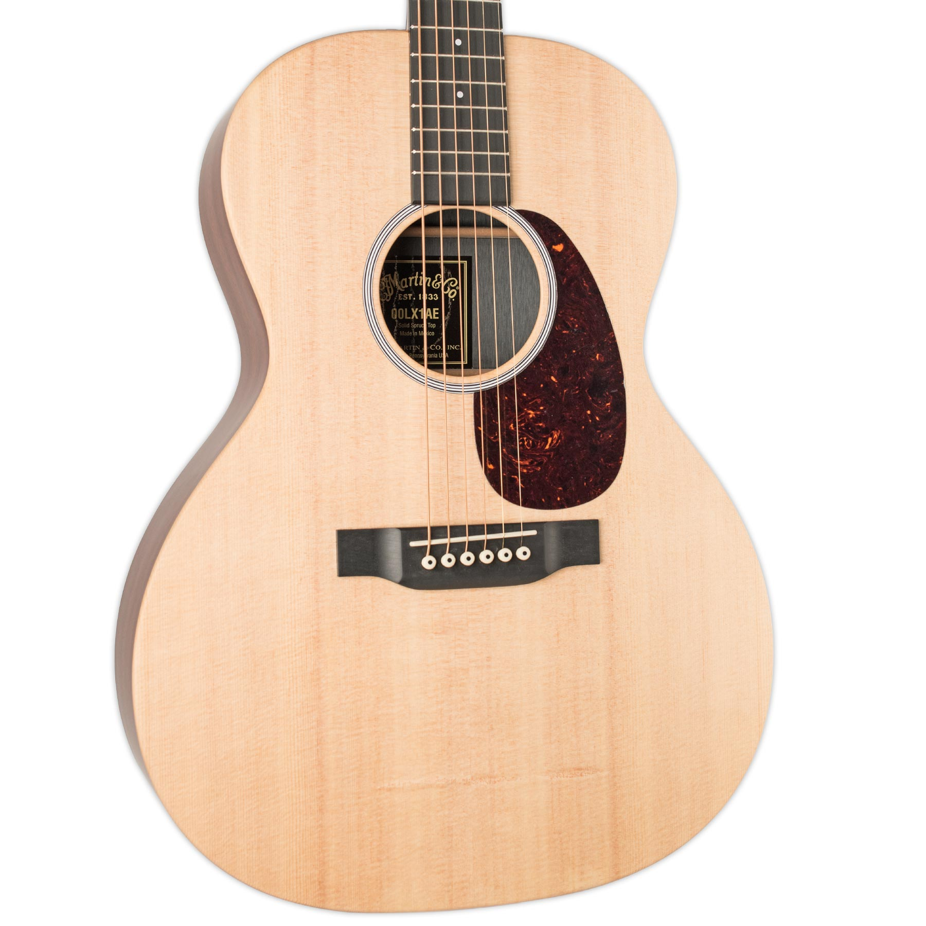 MARTIN 00LX1AE ACOUSTIC GUITAR (00-14 FRET SLOPE SHOULDER) WITH FISHMAN SONITONE PICKUP (NO BAG)