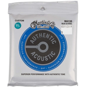 MARTIN MA130 AUTHENTIC ACOUSTIC SP STRINGS SILK & STEEL 11.5-47