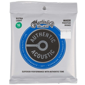 MARTIN MA530 AUTHENTIC ACOUSTIC SP STRINGS EXTRA LIGHT 10-47