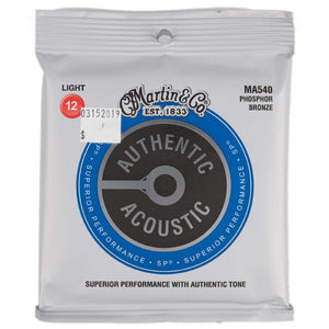 MARTIN MA540 AUTHENTIC ACOUSTIC SP STRINGS LIGHT 12-52