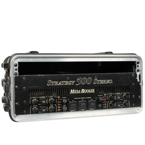 USED MESA BOOGIE STRATEGY 500 STEREO POWER AMP WITH RACK CASE