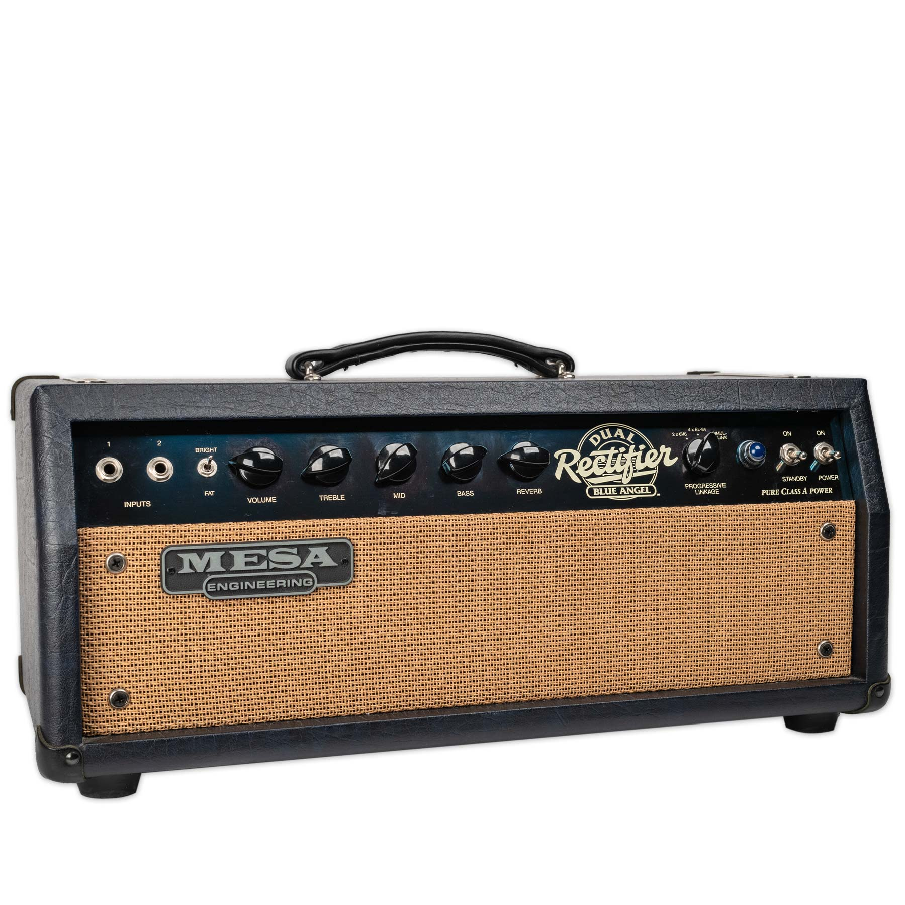 USED MESA BOOGIE BLUE ANGEL HEAD AND 2X12 CABINET