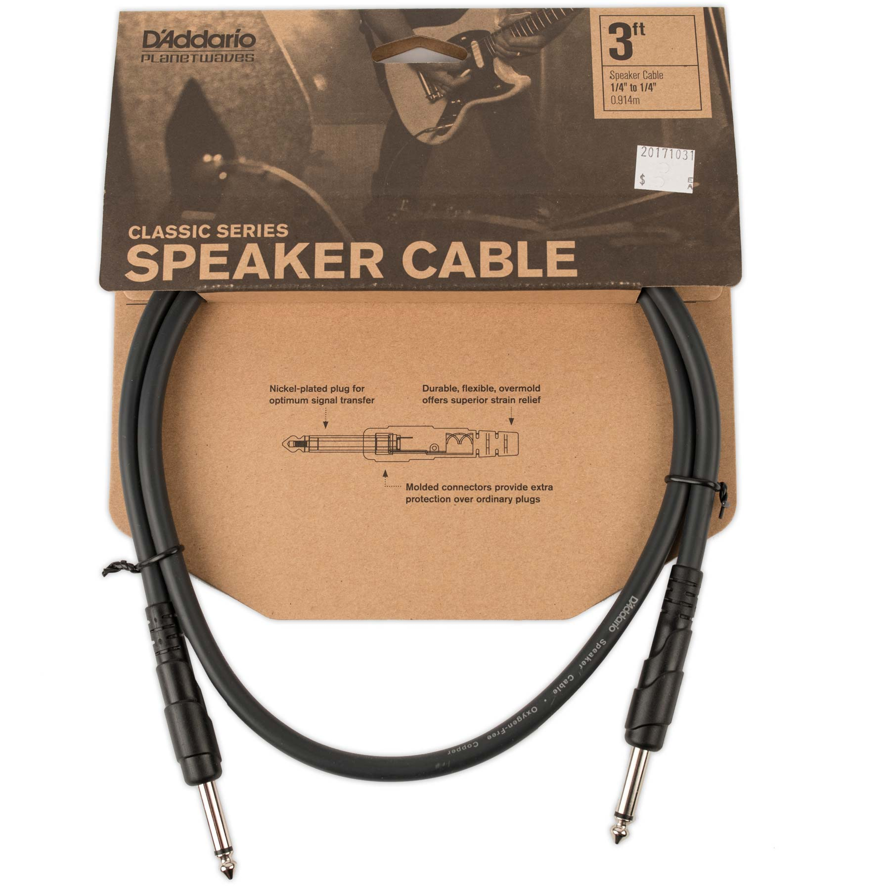 PLANET WAVES CLASSIC SERIES 3' SPEAKER CABLE
