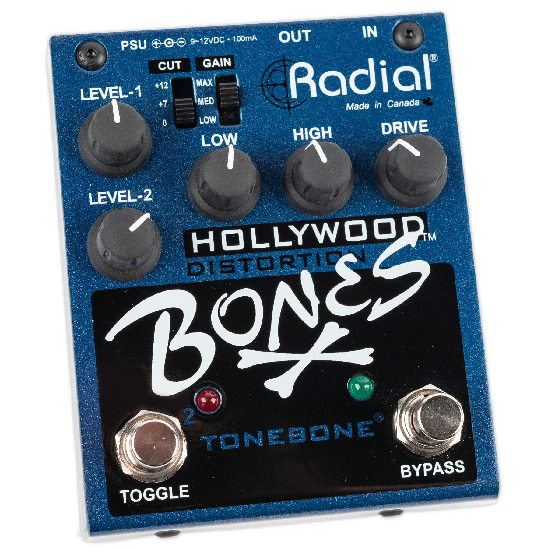 USED RADIAL BONES HOLLYWOOD DUAL DISTORTION WITH BOX
