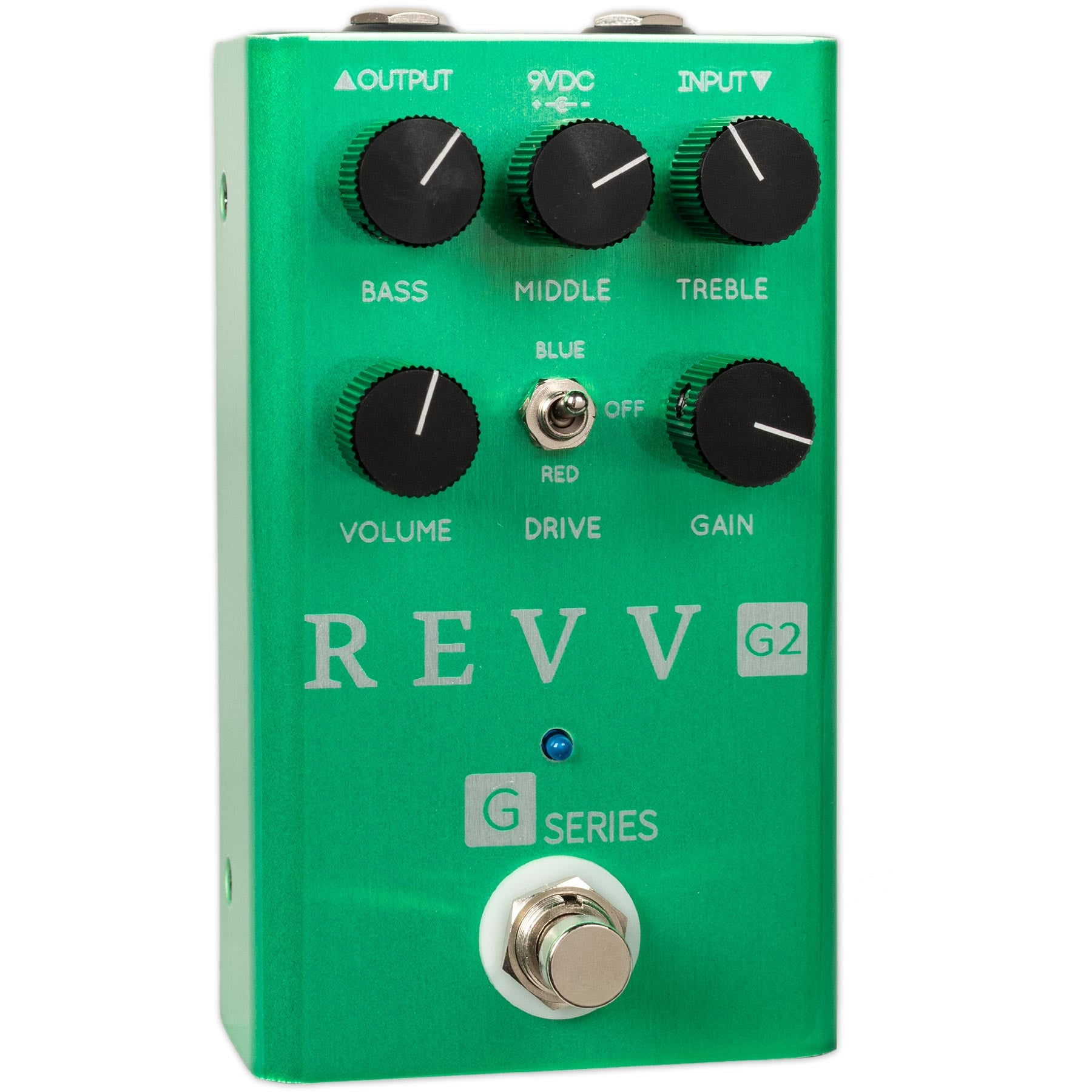 REVV G2 GREEN CHANNEL OVERDRIVE/CRUNCH PEDAL