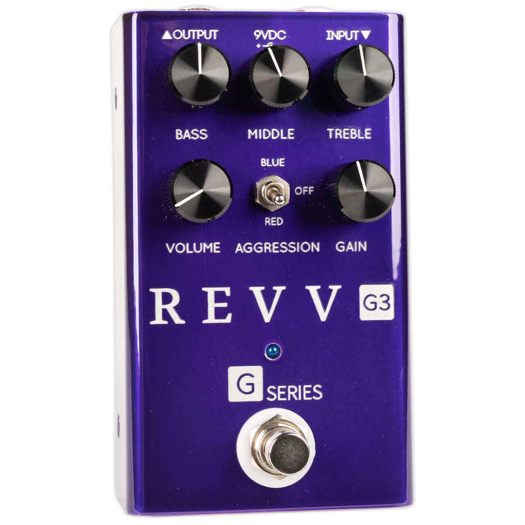 REVV G3 PURPLE CHANNEL OVERDRIVE/DISTORTION PEDAL