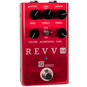 REVV G4 PEDAL RED CHANNEL OVERDRIVE/DISTORTION