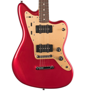 SQUIER DELUXE JAZZMASTER CANDY APPLE RED STOPTAIL