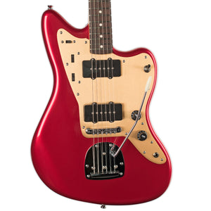 SQUIER DELUXE JAZZMASTER CANDY APPLE RED WITH TREMOLO
