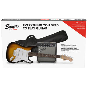 SQUIER STRAT PACK BROWN SUNBURST
