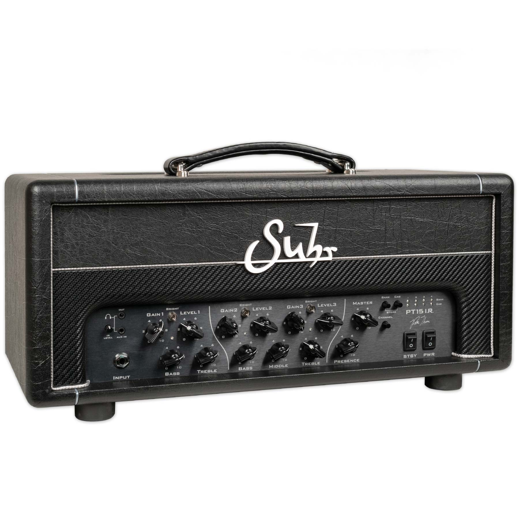 SUHR PT15 I.R. PETE THORN SIGNATURE 3-CHANNEL 15 WATT GUITAR AMPLIFIER HEAD WITH IR