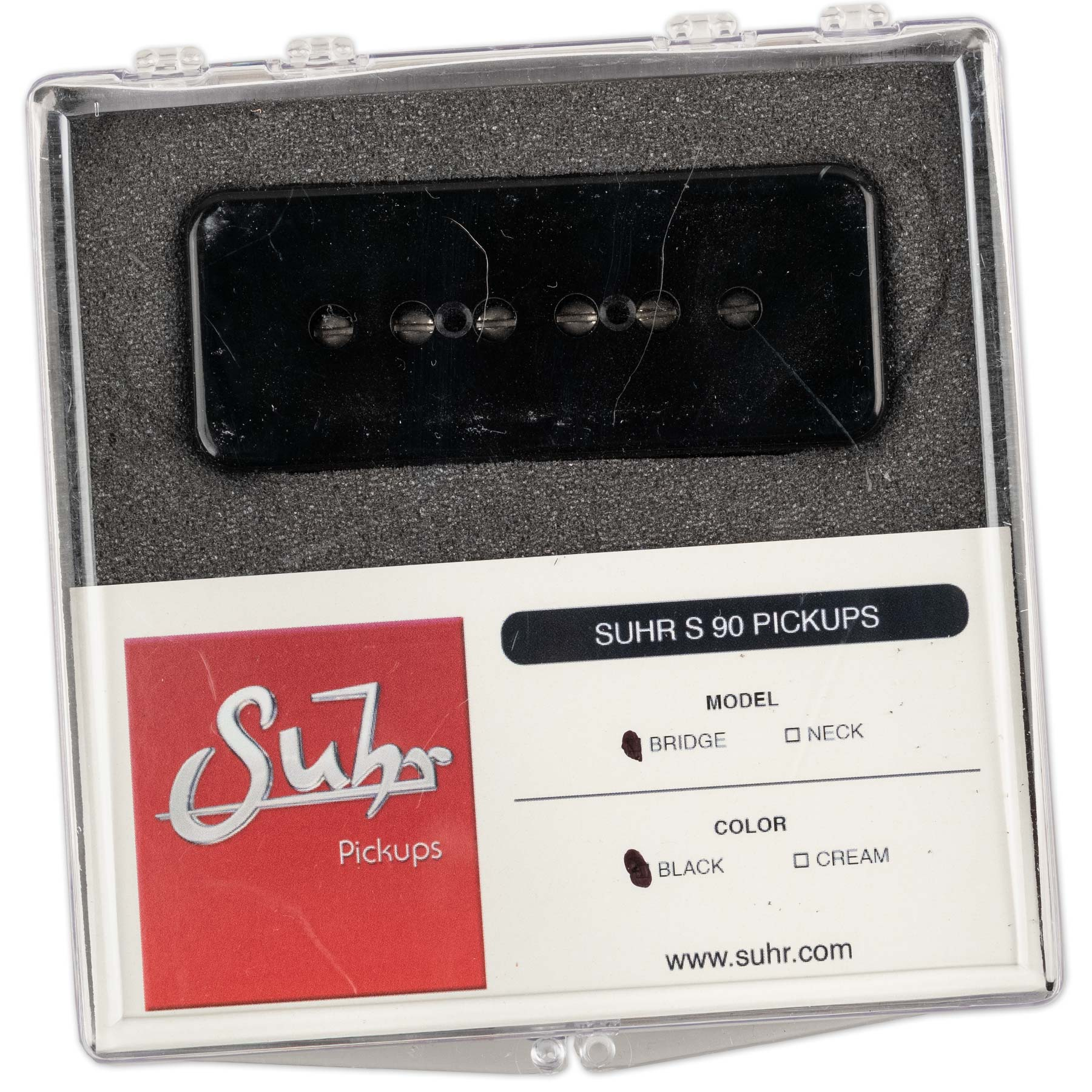 SUHR S90 SINGLE COIL PICKUP BRIDGE BLACK
