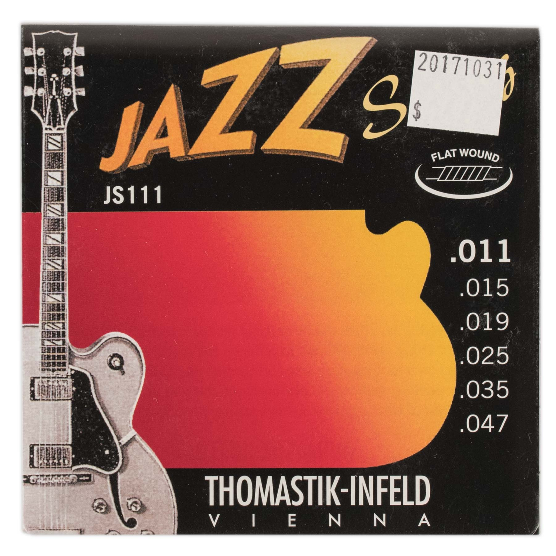 THOMASTIK-INFELD JAZZ SWING FLATWOUND ELECTRIC GUITAR SET .011-047