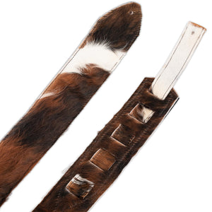 WELL-HUNG STRAPS COW HIDE