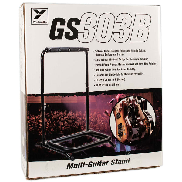 YORKVILLE 3 GUITAR FOLDING TOURING STAND