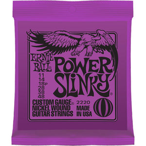 ERNIE BALL POWER SLINKY NICKEL WOUND GUITAR STRINGS 11-48