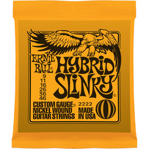 ERNIE BALL HYBRID SLINKY NICKEL WOUND GUITAR STRINGS 9-46