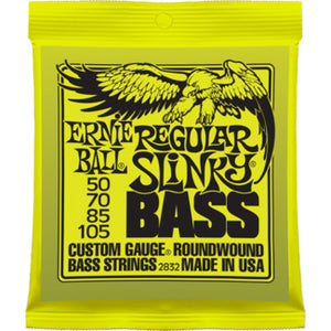 ERNIE BALL REGULAR SLINKY BASS ROUNDWOUND BASS STRINGS 50-105