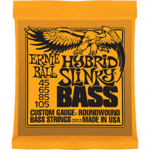 ERNIE BALL HYBRID SLINKY BASS ROUNDWOUND BASS STRINGS 45-105