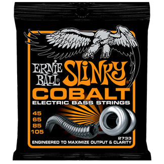 ERNIE BALL COBALT HYBRID SLINKY ELECTRIC BASS STRINGS 45-105