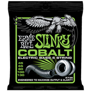 ERNIE BALL REGULAR SLINKY BASS 5 COBALT BASS STRINGS 45-130
