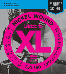 D'ADDARIO NICKEL WOUND ELECTRIC 12-STRING SET 10-46