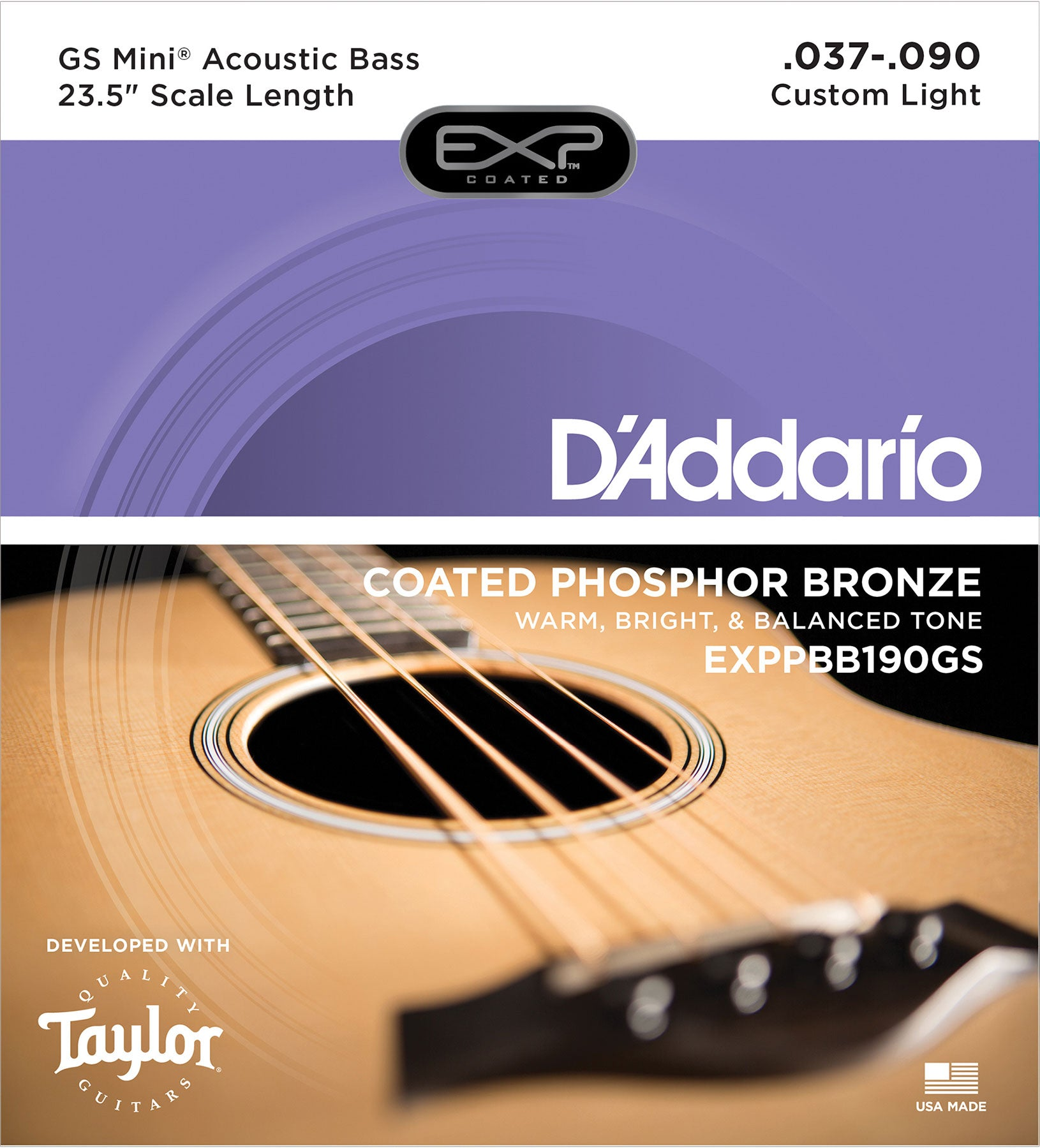 D'ADDARIO EXP GS MINI BASS ACOUSTIC BASS STRINGS 37-90